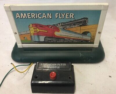 American Flyer Train Whistle Billboard w/control. not tested Preowned (6B)