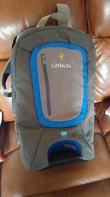 LittleLife Ultralight Convertible S3 baby carrier backpack in blue and grey