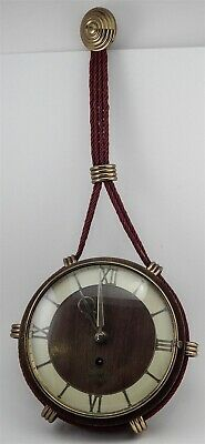 Vintage German Welby 8 Day 4 Jewel Wind Up Clock Nautical Hanging Parts / Repair
