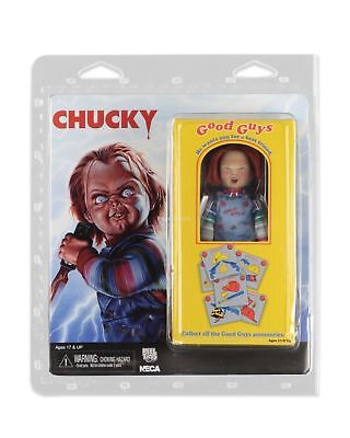 """5.5"""" CHUCKY figure CHILD'S PLAY charles lee ray CLOTHED RETRO good guys NECA 8"""""""