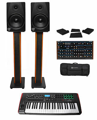 Novation Peak Desktop MIDI USB Synthesiser+Impulse Keyboard Controller+Monitors