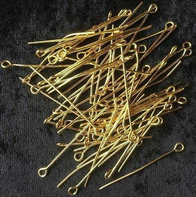 Eye Pins - Gold - 35mm - 50 Pieces - New