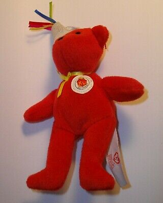 821efc75956 McDonalds Ty 25 Years of Happiness  1 Happy Meal Bear Beanie Baby toy loose  2004