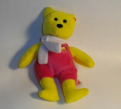 bcae52d280d McDonalds Ty 25 Years of Happiness Birdie the Bear toy Beanie Baby loose  2004