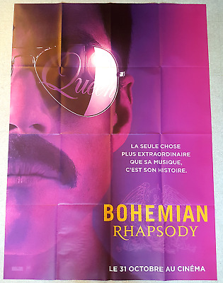 2018 BOHEMIAN RHAPSODY Queen Freddie Mercury french LARGE movie poster