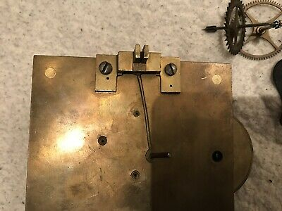 Single Fusee Clock Movement Spares Or Repair