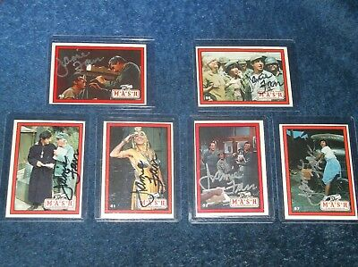 Lot Of 11 Jamie Farr Mash 1982 Signed Trading Cards Autograph All Different