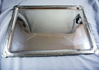 Fabulous Vintage Estate 900  European Silver Rectangular Serving Tray C1940'S