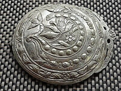 UNIQUE HUGE AUTHENTIC OTTOMAN RENAISSANCE SILVER BUCKLE 16th-19th AD. / 115,52gr