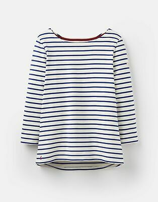 Joules Womens 204218 Jersey Striped Top in SOFT NAVY AND Cream STRIPE