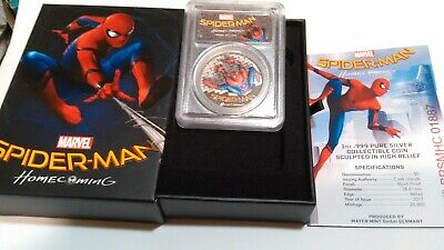 2017 $5  Spider-Man Homecoming 1oz .999 Silver Coin PCGSPR69DCAM ( 1 DAY SALE )