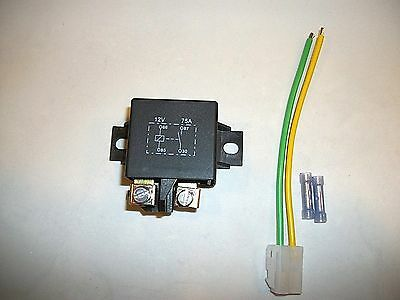Relay 75 amp Heavy Duty 12 volt universal kit with harness and butt connectors