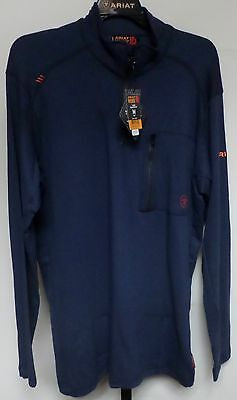 Ariat 10012259 Men's Navy Blue Flame Resistant Long Sleeved Shirt New