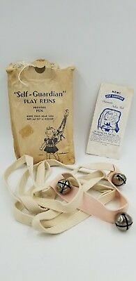 Antique Self Guardian Baby Pink Automatic Play Reins In Original Package