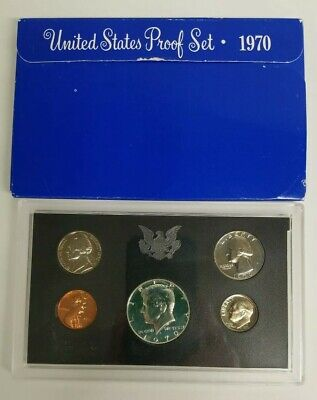 1970 United States Mint Proof Set 5 Piece in Box