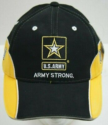 NEW  NASCAR Mark Martin 01 US ARMY Hat Ball Cap Yellow Black Army Strong 200a13ec61bb