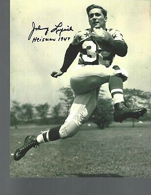 Johnny Lujack signed 8x10's (lot of 2) - Notre Dame Collection