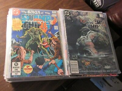 Lot of 38 Different The Saga of the Swamp Thing #1-60 DC 1982 Comic Book Run WOW