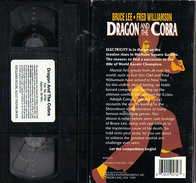 Dragon And The Cobra~1991 Vg/c Vhs~ Bruce Lee Fred Williamson Adolph Caesar