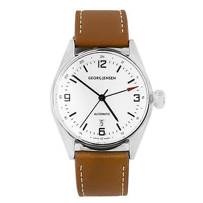 Georg Jensen Delta Men's Automatic Dual Time GMT Watch Swiss Made 3575601