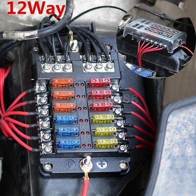 6 Way 12v Blade Fuse Box Distribution Block With Led Indicators Hot