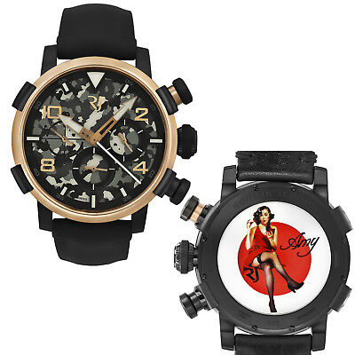 Romain Jerome Pinup DNA Red Gold WWII Amy Chronograph Auto RJ.P.CH.003.01