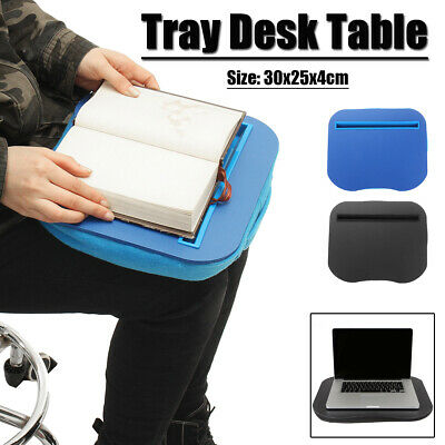 AUS Portable Tray Lap Desk Table Cushioned Computer Reading Writing Laptop Pad