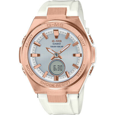 Casio BABY-G MSGS200G-7A G-MS Rose Gold Tough Solar Analog-Digital Ladies Watch