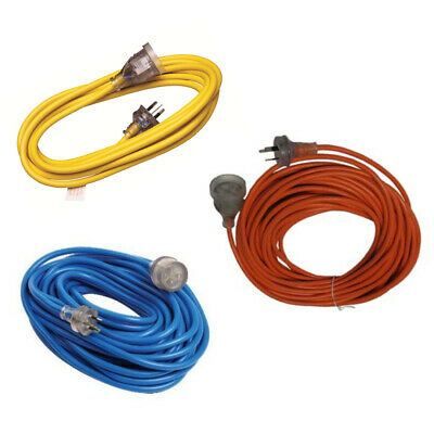 Extension Lead 5m 10-15-20 30 meter 15 amp Heavy Duty Cable 3 pin 15A Plug