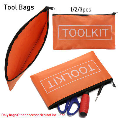 1/2/3pcs Waterproof Oxford Cloth Tool Bag Zipper Storage Instrument Case Pouch