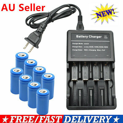 16340 Battery (R)CR123A+Charger for Arlo Wire-Free HD Security Camera VMC3030 UB