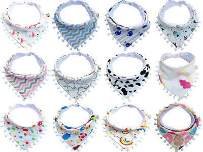 Baby Girl  Boy Bibs Waterproof Saliva Towel Kids Cartoon Bib Feeding Bandana