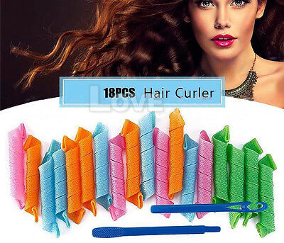Magic Hair Curler DIY 18/36Pcs Leverage Curlers Curl Formers Spiral Styling RoF9