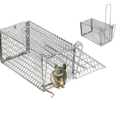Rat Catcher Spring Cage Trap Humane Large Live Animal Rodent Indoor Outdoor UK