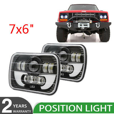 2pcs 7X6 240W Sealed Beam LED Headlights Replacement for Jeep Cherokee XJ Trucks