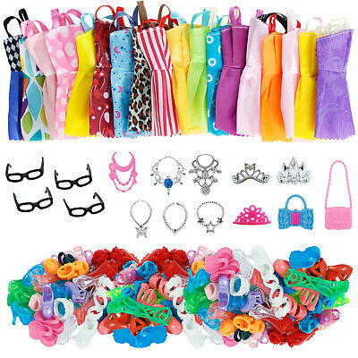 5x Handmade Princess Dress Cartoon Wedding Party Clothes For 12 in. Girl Doll