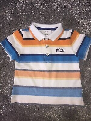 baby boy hugo boss 9 months polo top, immaculate condition