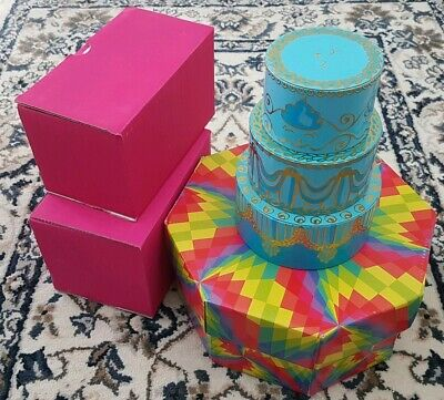 Job Lot Lush Cosmetics Funky Bright Colourful Craft Storage Boxes Tin Upcycled