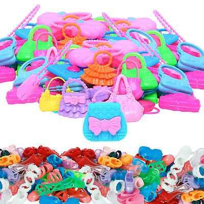 40 Pcs = 20 Pairs Random Fashion Shoes Clothes Accessories For 12 in. Doll Gift