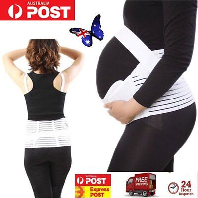 Pregnancy Maternity Abdominal Back Support Strap Belt Belly Band in LARGE SIZF9