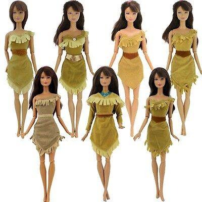 Fairytale Dress Native American Outfit Clothes For Barbie Doll Clothes Pocahonta