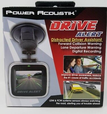 Power Acoustik Drive Alert Distracted Driver Assistant With Lane Departure Warn