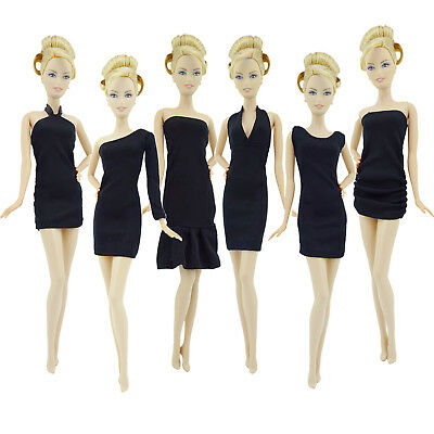 Fashion Black Mini Party Ball Dress Accessories Clothes For Barbie Toy Doll Gift