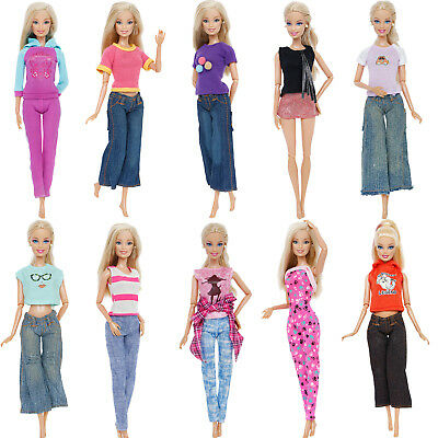 Handmade Blouse Pants Outfits Dress Accessories Clothes For Barbie Doll Gift