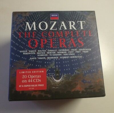 Mozart COMPLETE OPERAS DECCA CD-BOX MINT OUT OF PRINT