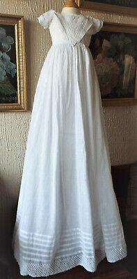 Antique Baby Christening Gown/ayrshire Embroidery
