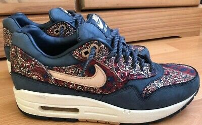 new product bcf10 9cbfa Nike Air Max 1 Liberty Blue Paisley Size Uk 4 Eur 37.5