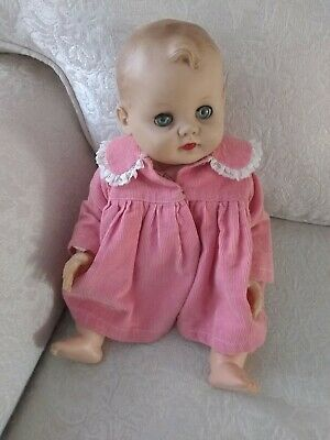 "1950s vintage CAMEO Miss Peep jointed vinyl 17"" baby doll Clothes coat dress"