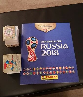 Panini Russia 2018 World Cup Complete Full Loose Set 682 Stickers Empty Album