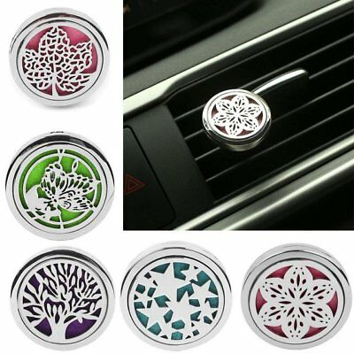 Stainless Car Air Vent Clip Freshener Essential Oil Diffuser Aromatherapy F5